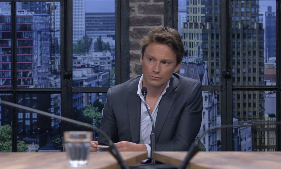 A picture of Sander Schimmelpenninck, host of Erasmus Success Talks